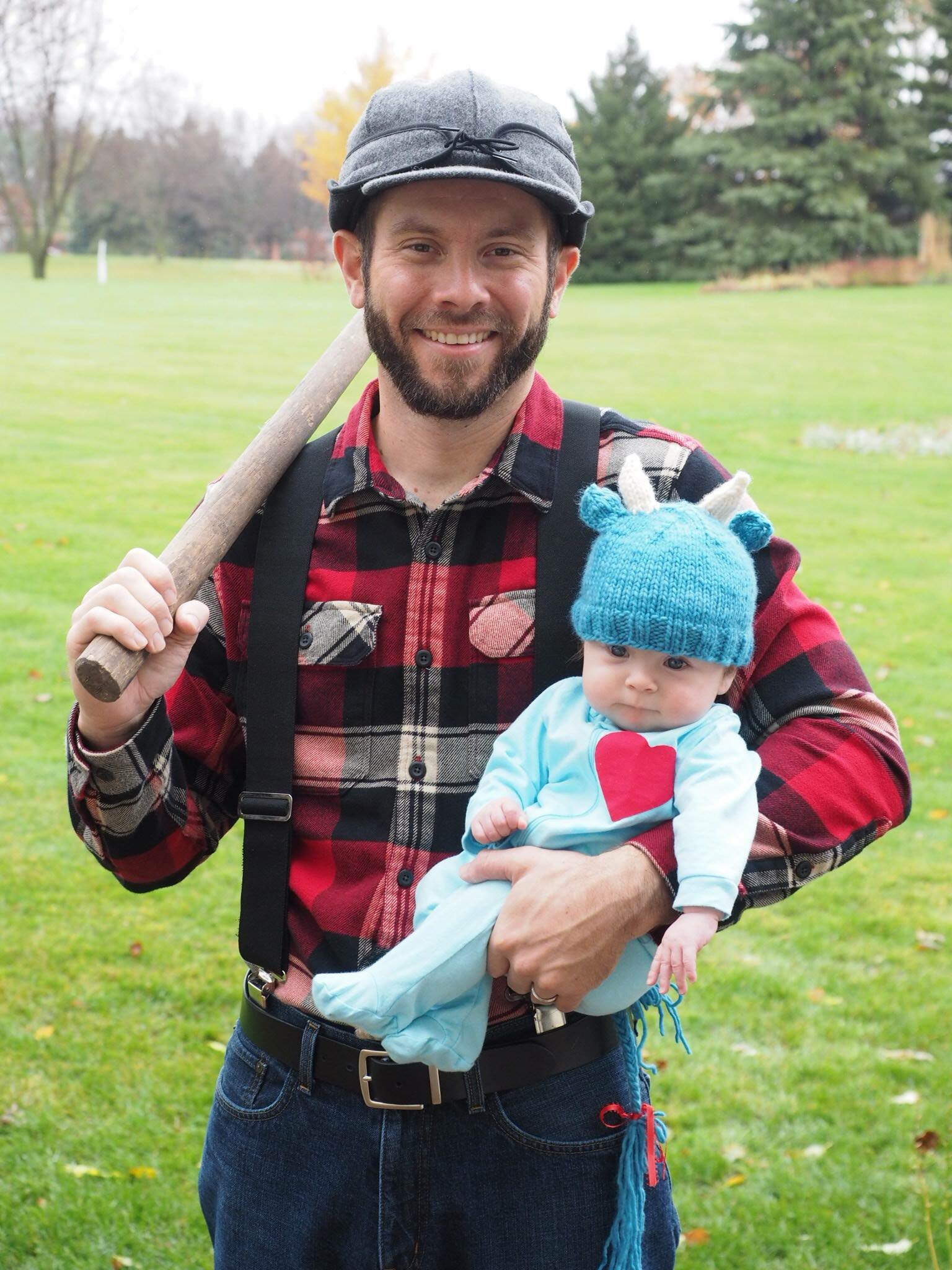 i think shes pretty adorable and her papa wes got the paul bunyan costume just right